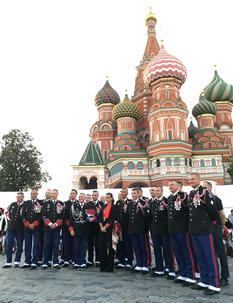 H.S.H. Princess Stéphanie visits Moscow for Spasskaya Tower International Military Music Festival